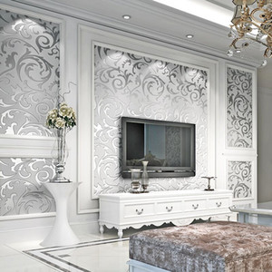 Modern Minimalist 3d Stereo TV Background Wall Paper Living Room Bedroom Non-woven Wallpaper Environmentally Thick