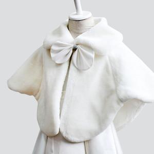 Bambini Faux Fur Wrap Ragazze capo di inverno Bella giovane ragazze scialle festa di nozze Giacche Wrap