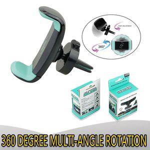 Universale MINI Air Vent Mount Stand Fit 360 градусов вращения Автомобильный держатель Vent Регулируемое для 3,5 дюйма до 6 дюймов смарт сотового телефона GPS PSP