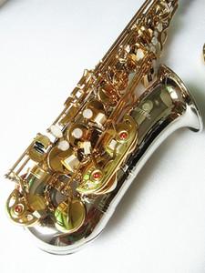 마우스 피스를 가진 새로운 색소폰 JUPITER JAS-1100SG의 Eb 알토 색소폰 골드 키 색소폰 알토 전문 악기 무료 갈대