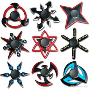 Naruto Dedo Spinner Tri Cruz Fidget Spinner metal Toy Spinner EDC Stuffer para Kid / Adult Toys Atacado Spinners Gyro