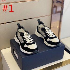 2020 Hombres B25 OBLIQUE RUNNER SNEAKER EN NEGRO SUEDE Hombres diseñadores deportivos zapatos Runner Cuero genuino Vintage Plataforma Hombres Entrenadores sz 39-46