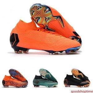 Mercurial Superfly SuperflyX KJ VI XII 360 Elite Ronaldo 6 12 CR7 FG TF IC High Mens Women Boys Soccer Shoes Cristiano Football Boots Cleats