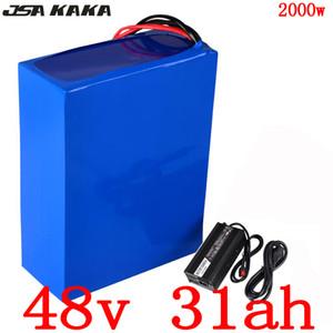 Аккумуляторная батарея 48V 1000W 1500W 2000W Ebike 48V 30Ah 48V 30Ah электрический самокат литиевая батарея зарядное устройство с BMS + 5A 50A безпошлинным