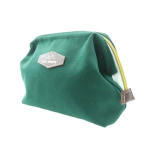 Dumpling Bag Cosmetic Canvas Printed Steel Wire Cutter Mouth Korean-style Jiao Storgage