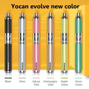 2021 versão yocan evolução-d yoca Evolve kit de cigarro eletrônico Erva seca 650mAh ecig pancake bobina
