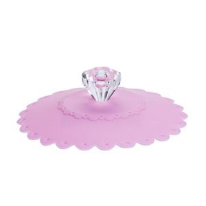 Silikon Cups Cap Transparente Diamanten Deckel Abdeckungen Versiegeln Hochwertige Cup Cover Fashion Beliebte Neue Muster 1 5cb J1