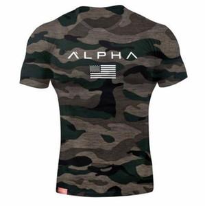 Erkek Askeri Ordu Tişörtlü Erkekler Yıldız Gevşek Pamuk Tişört O-boyun Alfa Amerika Boyut Kısa Kollu tişörtleri