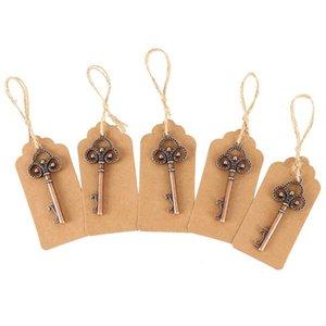 50pack Apribottiglie chiave con tag Carte Beer Bottle Opener favore di cerimonia nuziale di scheletro a Rustic la decorazione del partito