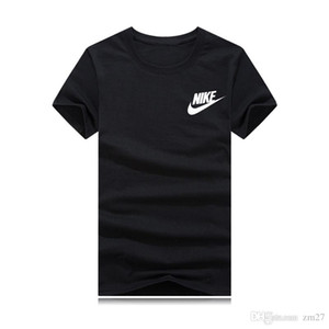 Famous designer of men's sports T-shirt in summer 2019, tee is a fashionable logo with short sleeves and plus-size harajuku top tee