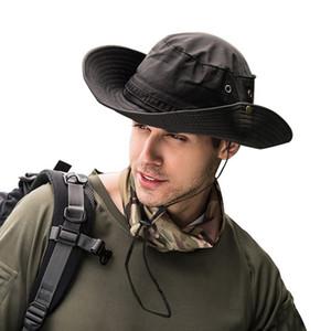 Cappello della benna di Boonie del cappello unisex Cap Pesca Caccia Safari estiva da uomo Cappello per il sole del pescatore
