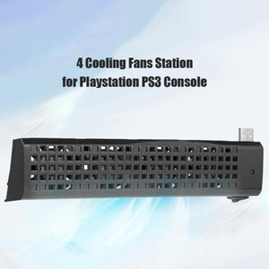 Dual USB Hub 4 Fans Cooling Station For Sony Playstation 3 PS3 (40G 80G) Game Console Host Heat Sink USB Cooling Fans hot sale