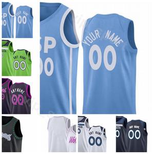 2020 sérigraphié Hommes Femmes Enfants 32 22 33 23 0 Sport Jersey en gros Blanc Noir Bleu Vert Ville Nom gagné sur mesure Numéro