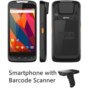 Uniwa M598 Smartphone 5 inç Ekran Çok Fonksiyonlu NFC 1D / 2D El Android PDA Barkod Tarayıcı Barkod