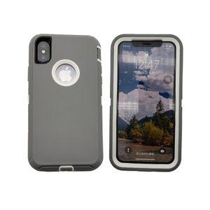 Heavy Duty-Fall für iPhone 11 Pro Max Xs Max XR X 8 7 Plus-6s 6-Abdeckung für Samsung Galaxy S10 S10e S9 + S8 Plus-Note 9 8 Ohne Gürtelclip