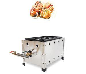 Máquina comercial de Takoyaki para fabricar gas Placa individual Takoyaki Grill Takoyaki Pan Popular Delicious Japan Snack Food Machine
