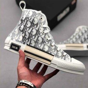 luxury Designer Dior Converse oblique Homme Kim Jones b22 B23 triple s High Top Bleu Sneakers Transparent casual Running sneakers