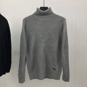 Mode-Männer Pullover Mens-Qualitäts-Strickpullover Männer Frauen Solid Color Retro Pullover mit langen Ärmeln Mantel