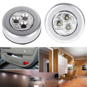 lampe tactile ronde Creative 3LED 4LED presse lumière pat voiture lumière lampe de lecture garde-robe pâte légère nuit voiture ZZA448