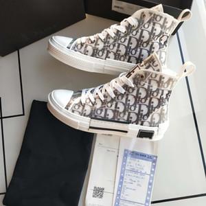 kutusu 2021 Yeni Gao Bang Çiçekler Teknik Kanvas ayakkabılar Yüksek Top Eğik Casual ayakkabılar 3M Erkek Kadın lüks Tasarımcı Ayakkabı