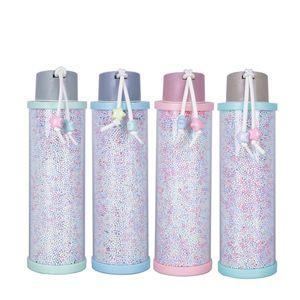 310ml Kunststoff-Schaum-Korn-Wasserflasche Creative Glass Cup Leak Prevention Süßigkeit Farbe Becher Bewegliche Männer Frauen Tasse LJJA3135