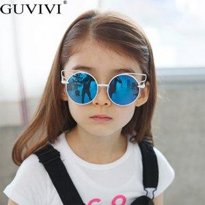 Steampunk Rodada CRIANÇA ÓCULOS Rapazes Meninas Luxo Crianças Sunglasses Vintage Cat Eye Oculos Feminino Acessórios