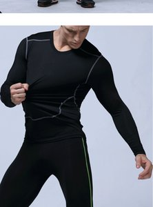 NEW 2019 autumn winter active sport tights running jogging GYM Fitness bodybuilding basketball soccer long sleeve t shirts05