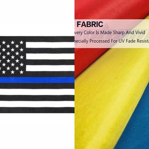 Doğrudan Fabrika Toptan 3x5fts 90cmx150cm Emniyet Memurları Abd Bize Amerikan Polis İnce Blue Line Bayrak