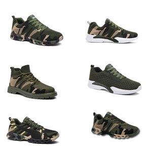 HOTSALE 2020 No-Brand Designer Shoes Hommes Femmes Chaussures de course Camouflage Army Green Outdoor formateur Siez 36-44 style 303