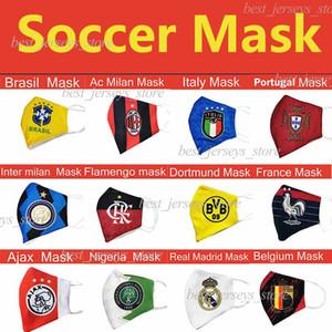 Flamenco de algodón máscara máscaras de fútbol Brasil desechables pueden ser colocados en el medio Mascarilla moda favorable al medio ambiente