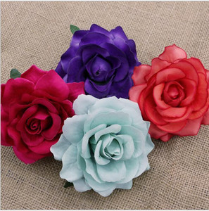 6cm Rose Heads Artificial Flowers Plastic Flowers Fake Flowers Head High Quality Party Wedding Decorate 9 Color