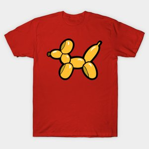 Men T-Shirt Balloon Animal Yellow Dog By Evannave Tshirt Women T Shirt