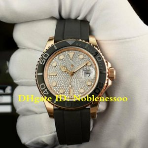 2 Color 2020 Mens Rose Gold 40mm Herren Pflastern Diamant Karte 116655 Snap Rubber Bands 126655 Asia 2813 Movement Automatic Men's Watches