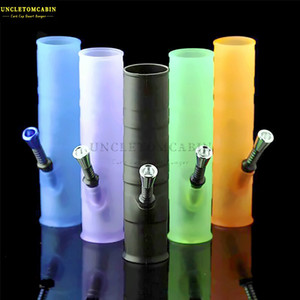 200MM Unbreakable Portable Silicone Water Bongs colorful Silicone Smoking Water Pipes Foldable Bong Oil Burner Dab Tool Smoking Water Pipe