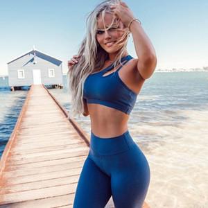 Roupas de ioga 2 peça conjunto feminino esporte ginásio roupas mulheres fitness conjuntos de cintura alta longa leggings calças justas e único sutiã de sutiã