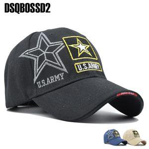 Dad DSQBOSS2 Navy Seals Cap Army Tactical Cap Letter bordado Boné de beisebol US NAVY Snapback Hat para as Mulheres Homens Hat Atacado