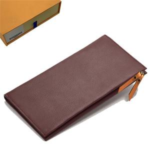 Portafogli Womens Wallet borsa della moneta del doppio Zippy Portafoglio Lady Due Catena Portafogli Fold titolare della carta del supporto del passaporto Donne tasto rosso Pouch 59 213