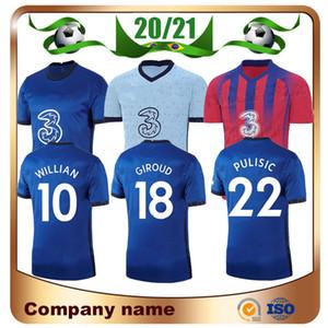 20/21 ABRAHAM PULISIC Inicio fútbol Jersey 2020 camisa ausente de WILLIAN KANTE ZIYECH fútbol uniforme GIROUD MONTAJE LAMPARD Fútbol