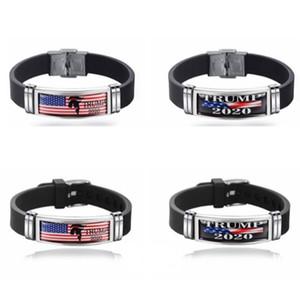 Trump 2020 pulseira de aço inoxidável pulseiras 4 estilo América presidente pulseira política eleição trump pulseiras presente de natal