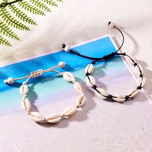 Donna Boemia Shell braccialetto Handmade spiaggia naturale Seashell piedi nudi Cavigliere Bracciale ragazze gioielli regalo di Natale del partito TTA1428-6