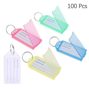 100pcs KeyChain petite Tag couleur bagages assortis en plastique autocollants Etiquettes pour SélectionnezDepartment Accueil Hôtel Key Cabinet