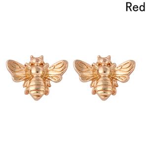 1 쌍 귀여운 은색 / 금색 꿀벌 귀걸이 작은 패션 스터드 귀걸이 곤충 비행 조류 꿀 귀여운 크리 에이 티브 비 스터드 귀걸이
