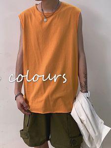 2020 / Yeni Moda Marka Ins Gevşek Yelek Kolsuz tişört 2020 Yaz Spor Yelek Erkek Hong Kong Stil Kore Stili Short Sleeve Cl