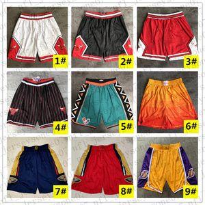 2020ChicagoBullsTeam Basketball Shorts Männer nbaShorts Pantaloncini DA Korb Sport Shorts College-Pants Weiß Schwarz Rot P