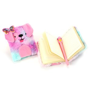 Cão dos desenhos animados Plushs Bow Notebooks Criança Multicolour Livros Escritório belo livro pequeno Suprimentos Estudantes Endearing Multifunctiona 7 8sm E2