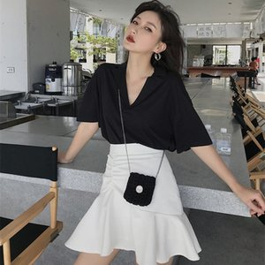 Fishtail skirt suit for women 2020 summer new western style fashion cool skirt two-piece set