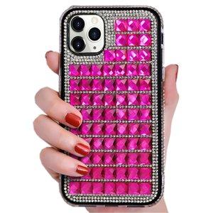 아이폰 11 프로 X XR XS 최대 8 7 6 플러스 SE 다이아몬드 백 케이스 커버 NEW 럭셔리 블링 블링 유리 크리스탈 라인 석 반짝이 전화 케이스