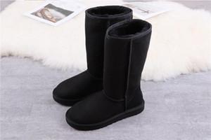 2020 yay-düğüm Bayan Avustralya Klasik Uzun Yarım Sneakers Yay Kadınlar Kız Kar Kış Ayak Bileği Çizmeler Deri Ayakkabı 05F6B #