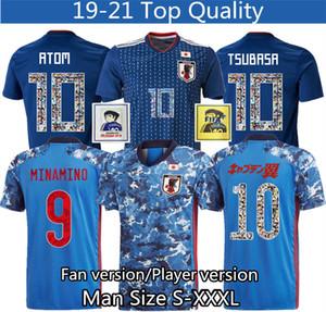 dessin animé numéro de maillot de foot Japon polices 10 Player version Jersey 2020 2021 qualité supérieure Thaïlande 18 19 football uniforme Survêtement S - XXXL