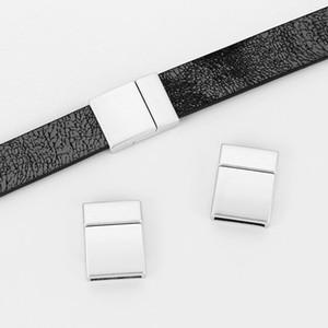 5pcs argento opaco piatto curvo forte chiusura magnetica per 12x2mm in pelle piatta cavo braccialetto braccialetto risultati dei monili componenti